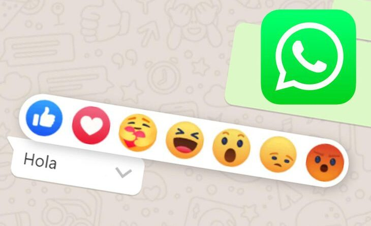 Reacciones en WhatsApp